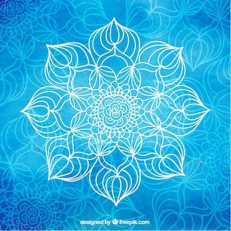 Bleu yoga fond