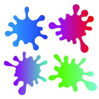 Blobs splash vecteur slime