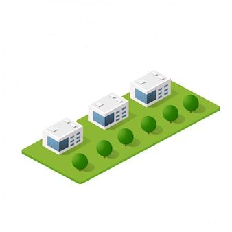 Bloc de module 3d isométrique