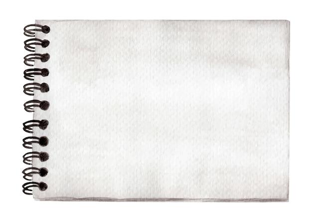 Bloc-notes ou cahier blanc style vintage - aquarelle.