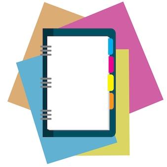 Bloc-notes, feuille de papier avec place pour le texte.