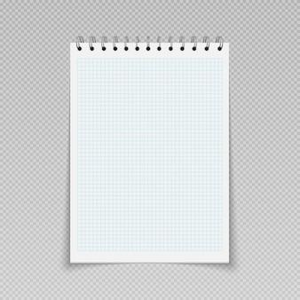 Bloc-notes de modèle de planificateur quotidien de bloc-notes avec la page blanche de feuilles de cahier à spirale de reliure
