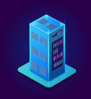 Blockchain 3d isométrique