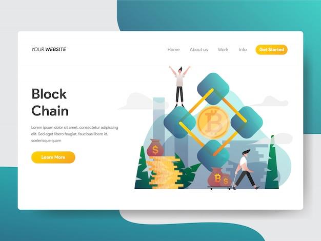Blockchain illustration concept