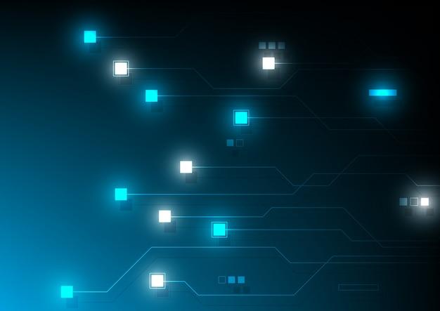 Blockchain technologie concept fond