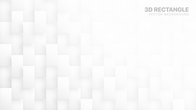 Blocs 3d rectangle tech abstrait blanc