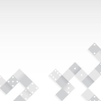 Blocs gris sur le vecteur de fond blanc blanc