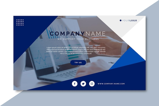 Blog de bannière d'entreprise