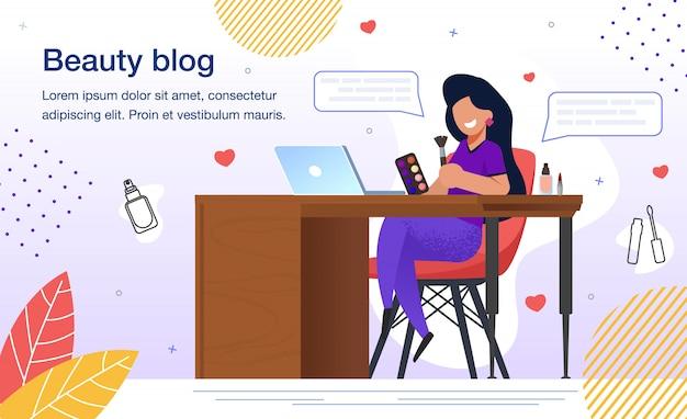 Blog blog beauté blog plat