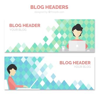 Blog-têtes avec un blogueur
