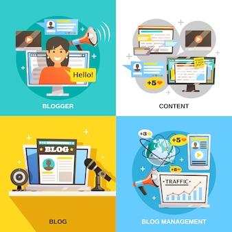 Blogger square design concept
