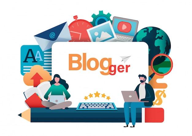 Blogging, blogger. free-lance.
