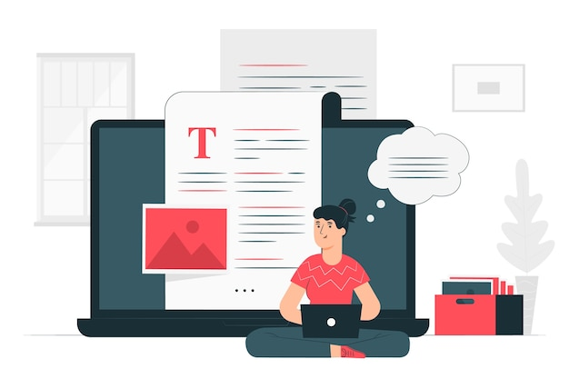 Blogging illustration concept
