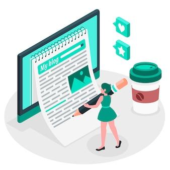 Blogging illustration concept