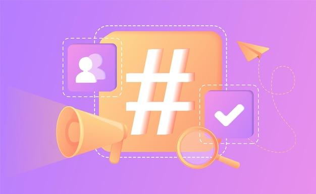 Blogging internet vlogging influenceur marketing de contenu viral médias sociaux hastag élément de conception isolé rédaction de mots-clés recherche smmstratégie marketing précisecommunication numérique
