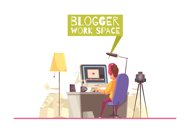 Blogging work space background