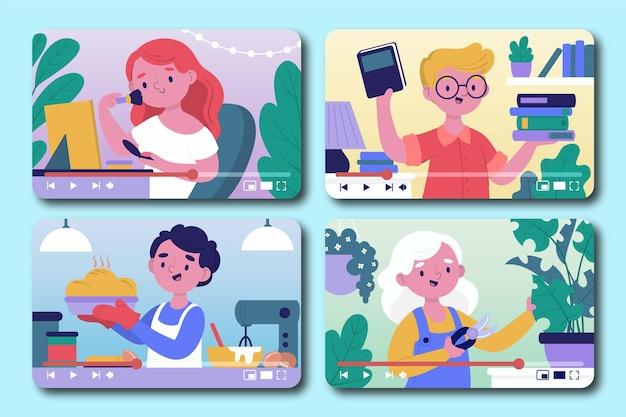 Blogueurs sur collection d'écran