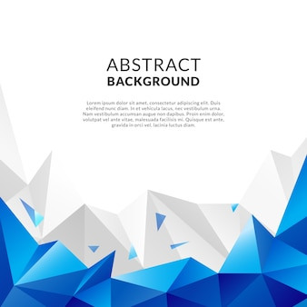 Blue abstract background with facets