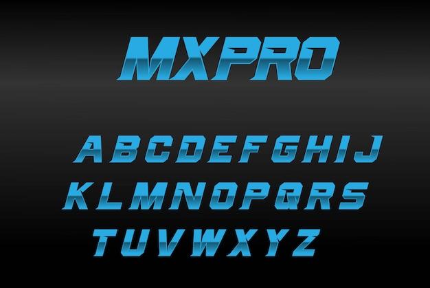 Blue bold font mxpro