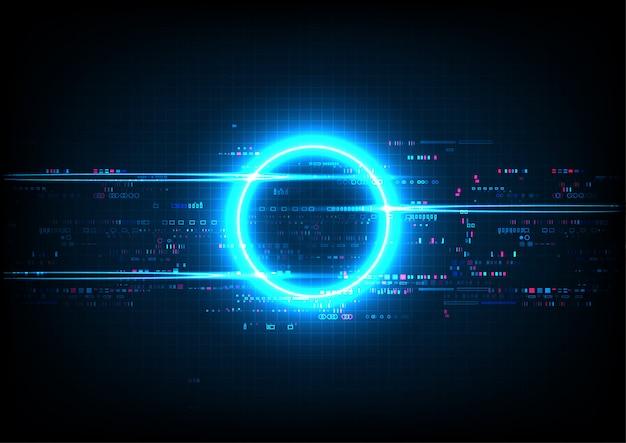 Blue circle digital technology