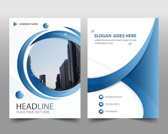 Blue creative annual book book cover template