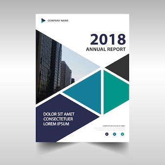 Blue creative annual report template