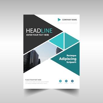 Blue creative annual report template
