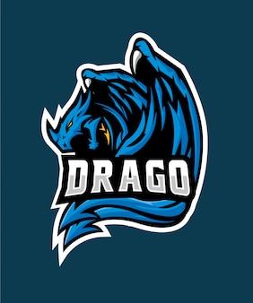 Blue drago e sports logo