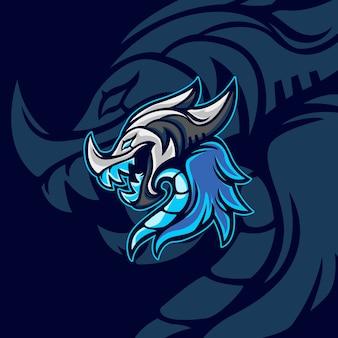Blue dragon pour mascotte de jeu