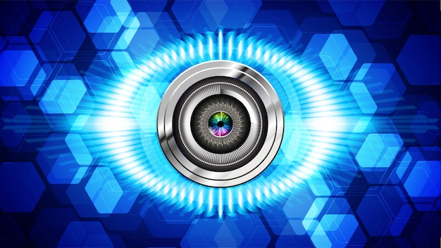 Blue eye cyber circuit future technologie background