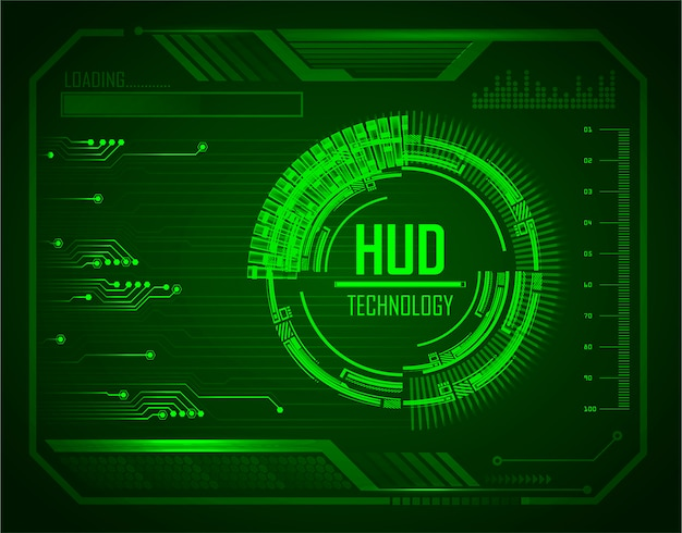 Blue hud cyber fond circuit futur concept de technologie