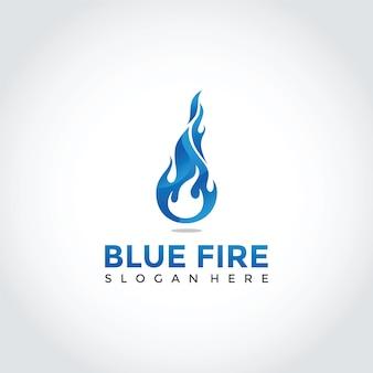 Blue logo logo design