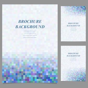 Blue mosaic brochure background