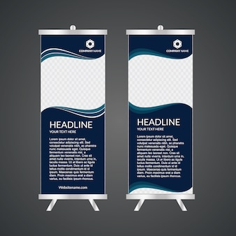 Blue roll up template