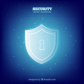 Blue security background with lock