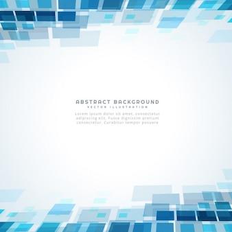Blue square mosaïque fond