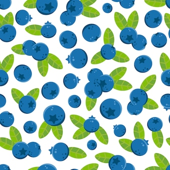 Blueberries pattern background