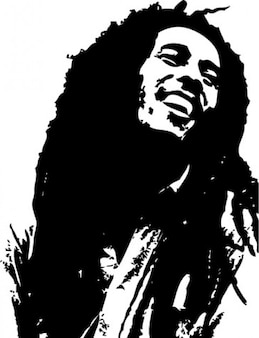 Bob marley portrait illustration vectorielle