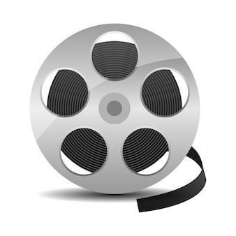 Bobine de film avec bande de cinéma