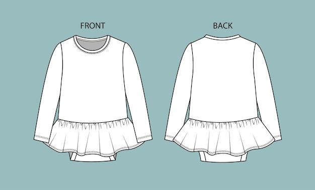 Body bébé vue avant et arrière