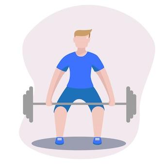 Bodybuilder avec haltère