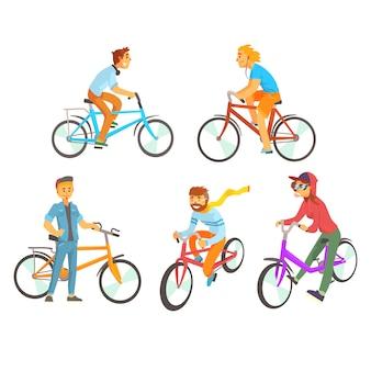 Bodybuilder pour. équipements sportifs pour la musculation. illustrations détaillées de dessin animé sur fond blanc