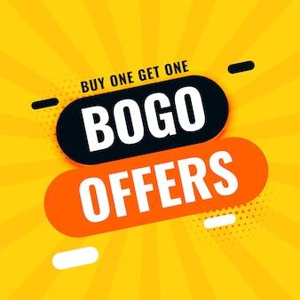 Bogo acheter un obtenir une bannière d'offre de vente