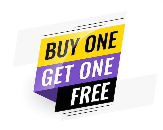Bogo (achetez-en un en un) bannière de vente gratuite