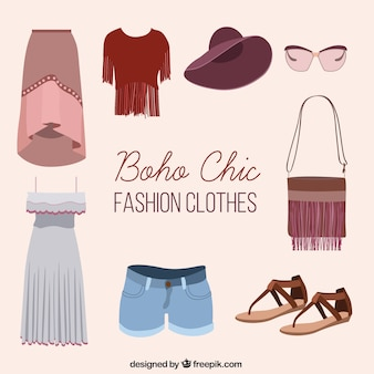 Boho chic et total look