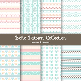 Boho pattern background collection