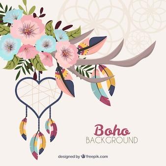 Boho style fond avec un design plat
