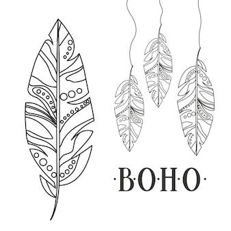 Boho style isolé design d'icône