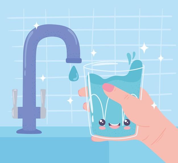 Boire de l'eau concept