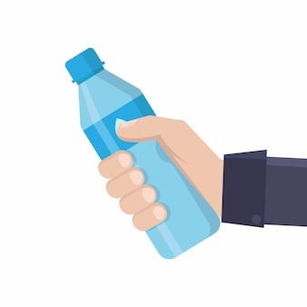 Boire de l'eau à plat